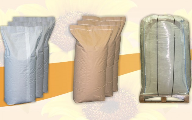 Packaging- Paper bags  / white and natural colour/ & Big tote palletized